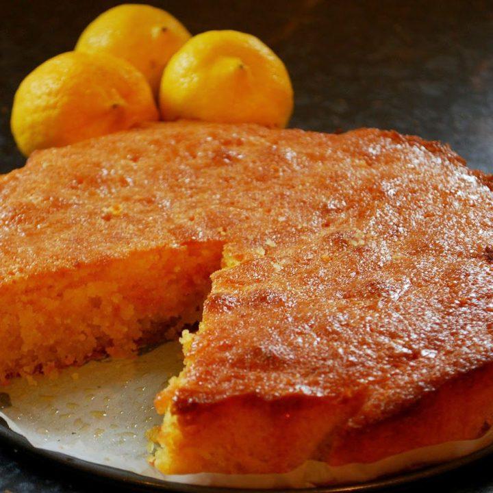 Recipe for Lemon and Coconut Polenta Cake