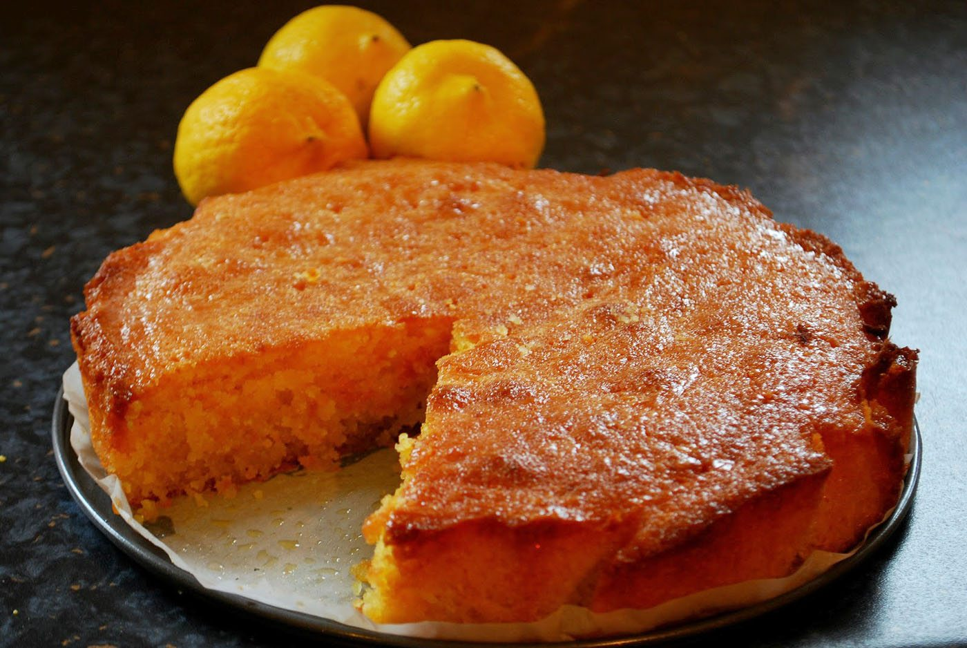 Recipe for Lemon and Coconut Polenta Cake