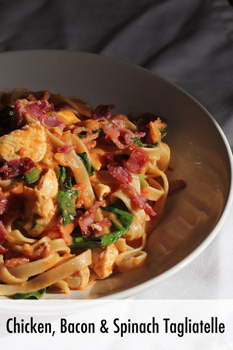 Chicken Bacon and Spinach Taliatelle_Pasta Recipe