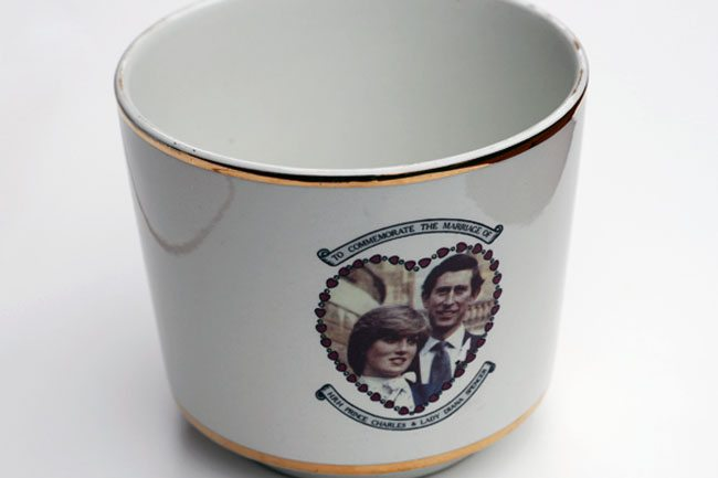 Charles and Diana Wedding Plant Pot