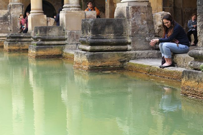 at the Roman baths