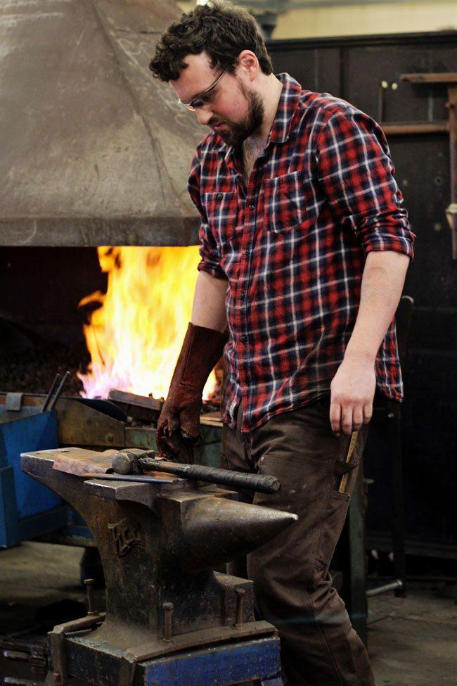 handsome blacksmith