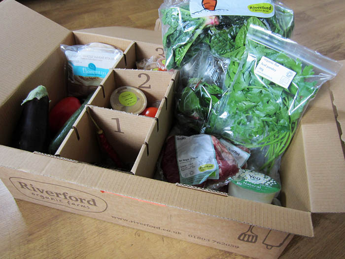 inside my Riverford box