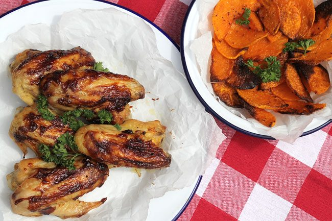 Chicken Wings and Butternut Squash