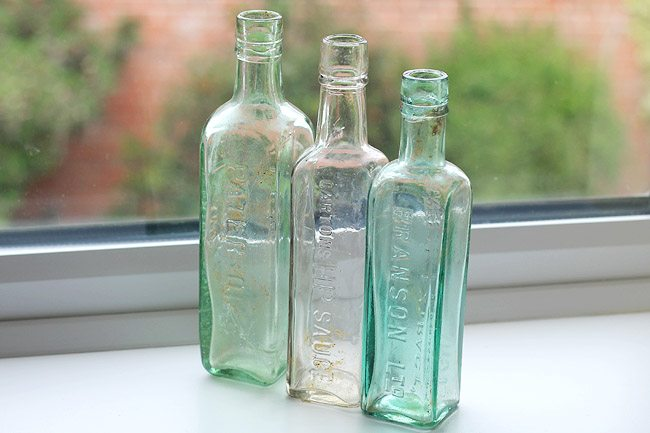 Vintage Antique Glass Bottles
