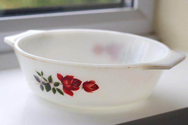 Vintage Floral Pyrex Dish
