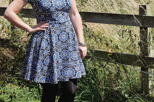 Black and Blue Patterned Dress