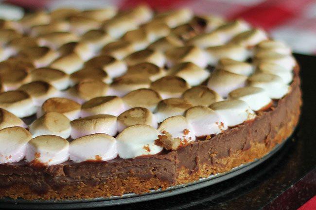 Detail of Smores Pie