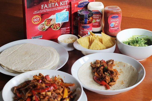 Using the Santa Maria fajita kit