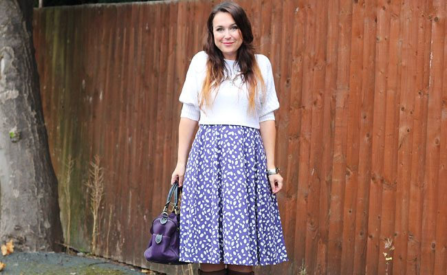 White and Purple Outfit