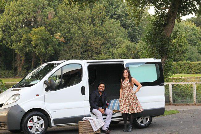 Elizabeth and Raj with Deborah The Van