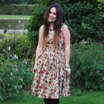 Wearing the Autumn Floral Dotty and Dolly Dress