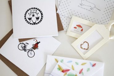 Inside Honeytree Post Stationery Box