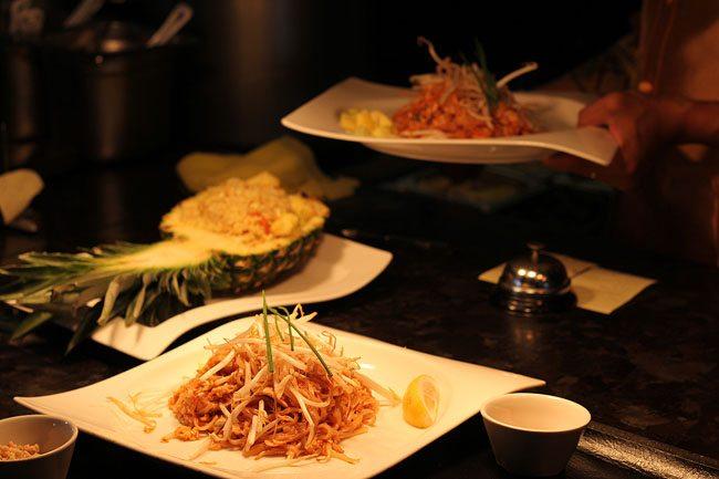 serving Thai Food
