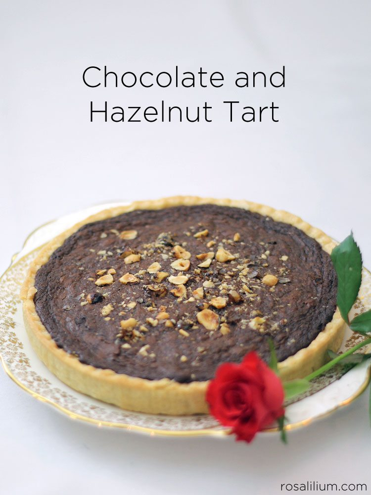 ... want sickly, this Chocolate and Hazelnut Tart is the one for you