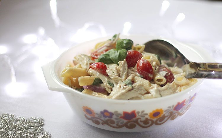 Leftover Turkey Pasta Salad