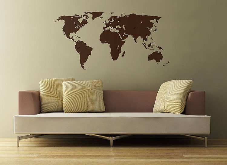 Good For the traveller u world map wall sticker from Not On The High Street