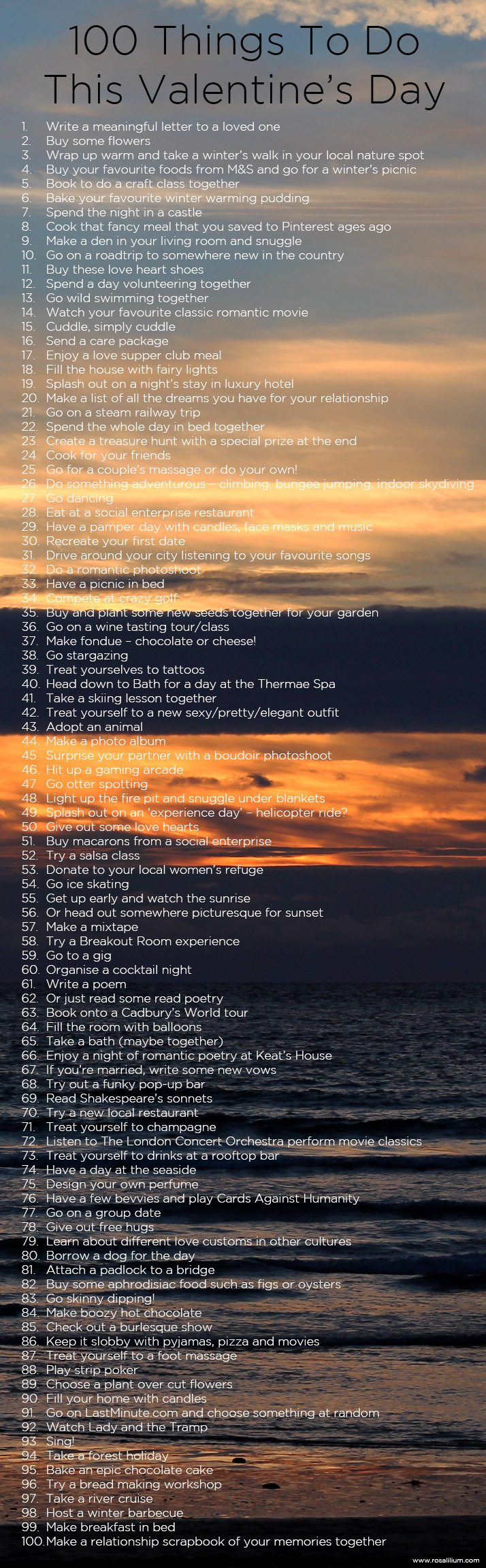 100 things to do on valentines day