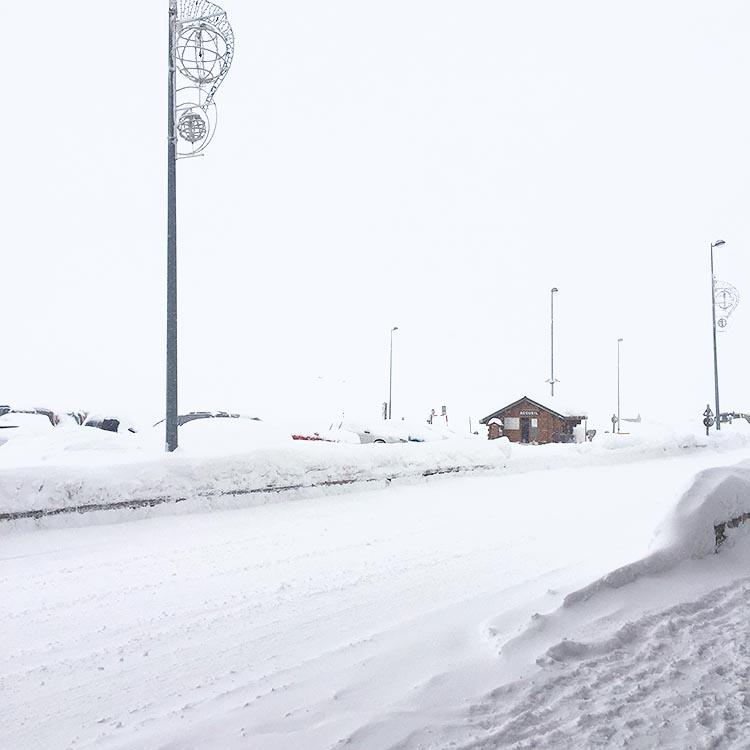 Blizzard in Tignes