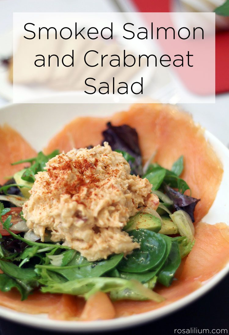 Smoked Salmon and Crabmeat Salad Recipe