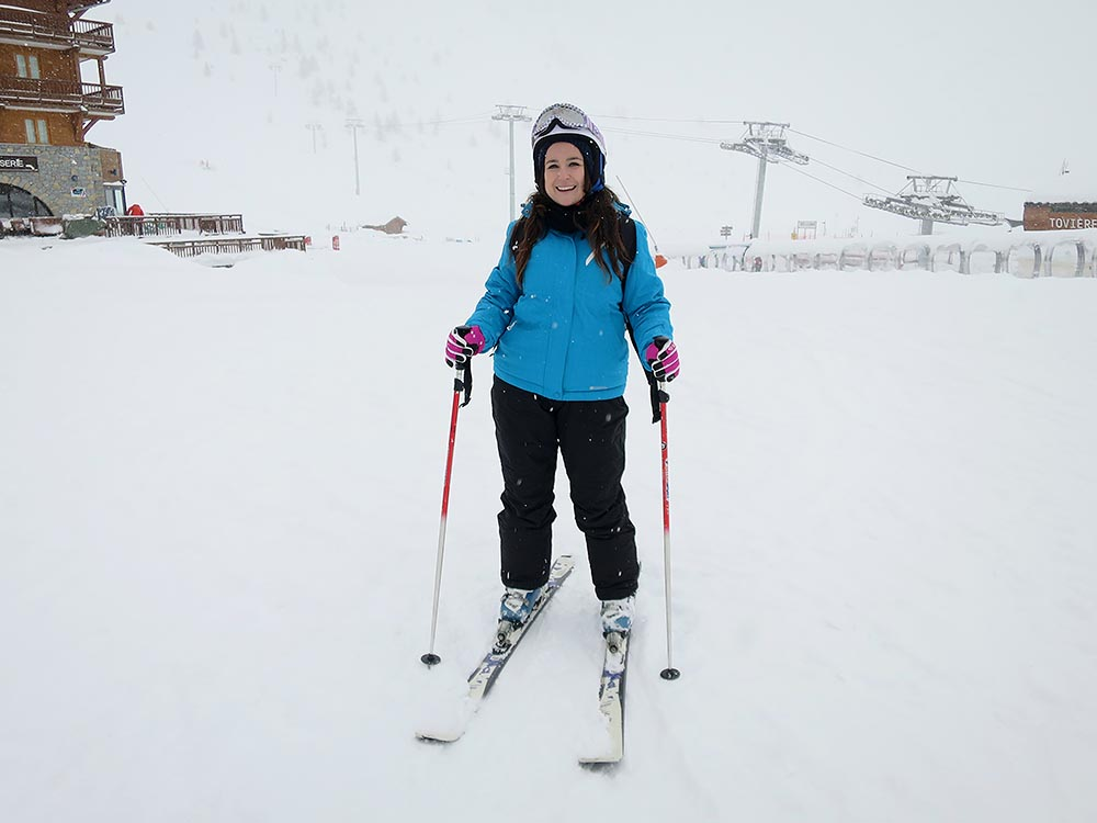 first time skiing