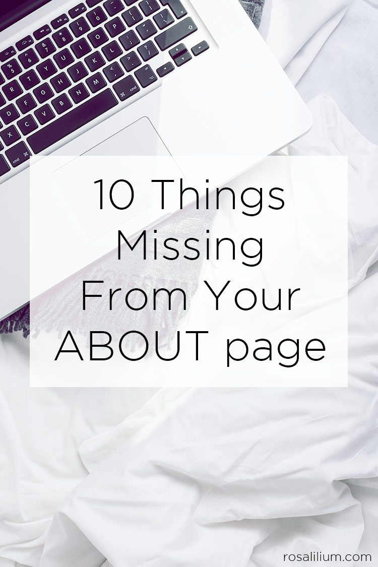 10 Things Missing From Your About Page Blogging Tips