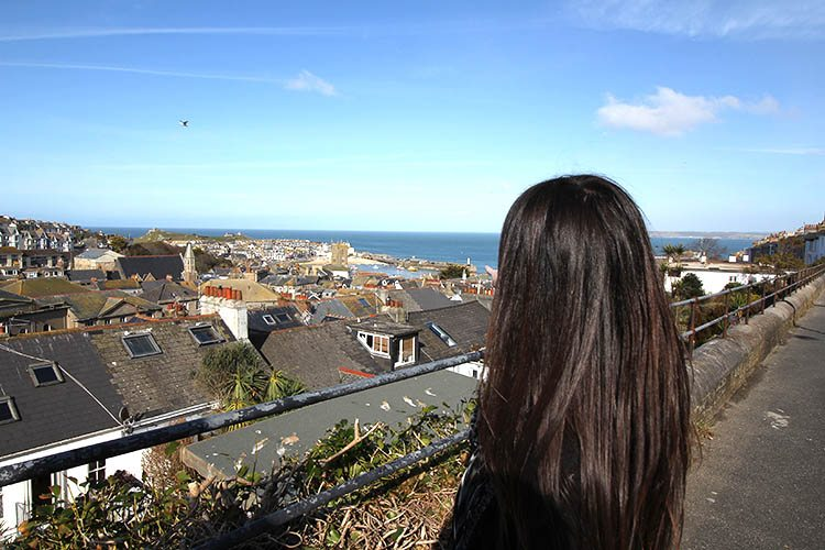 Looking out over St Ives
