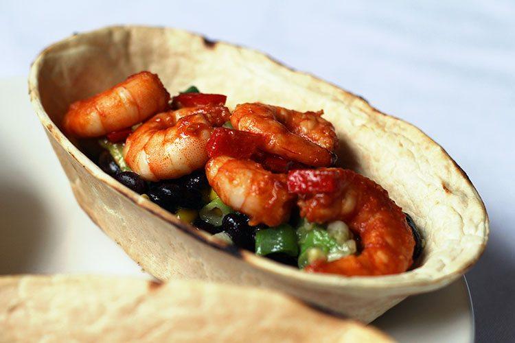 Spicy Mexican Prawn Soft Tacos