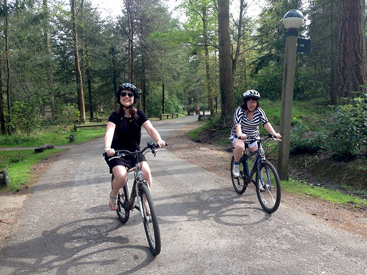 cycling at Centerparcs Longleat