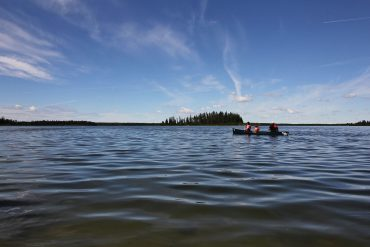 Canoeing Elk Island