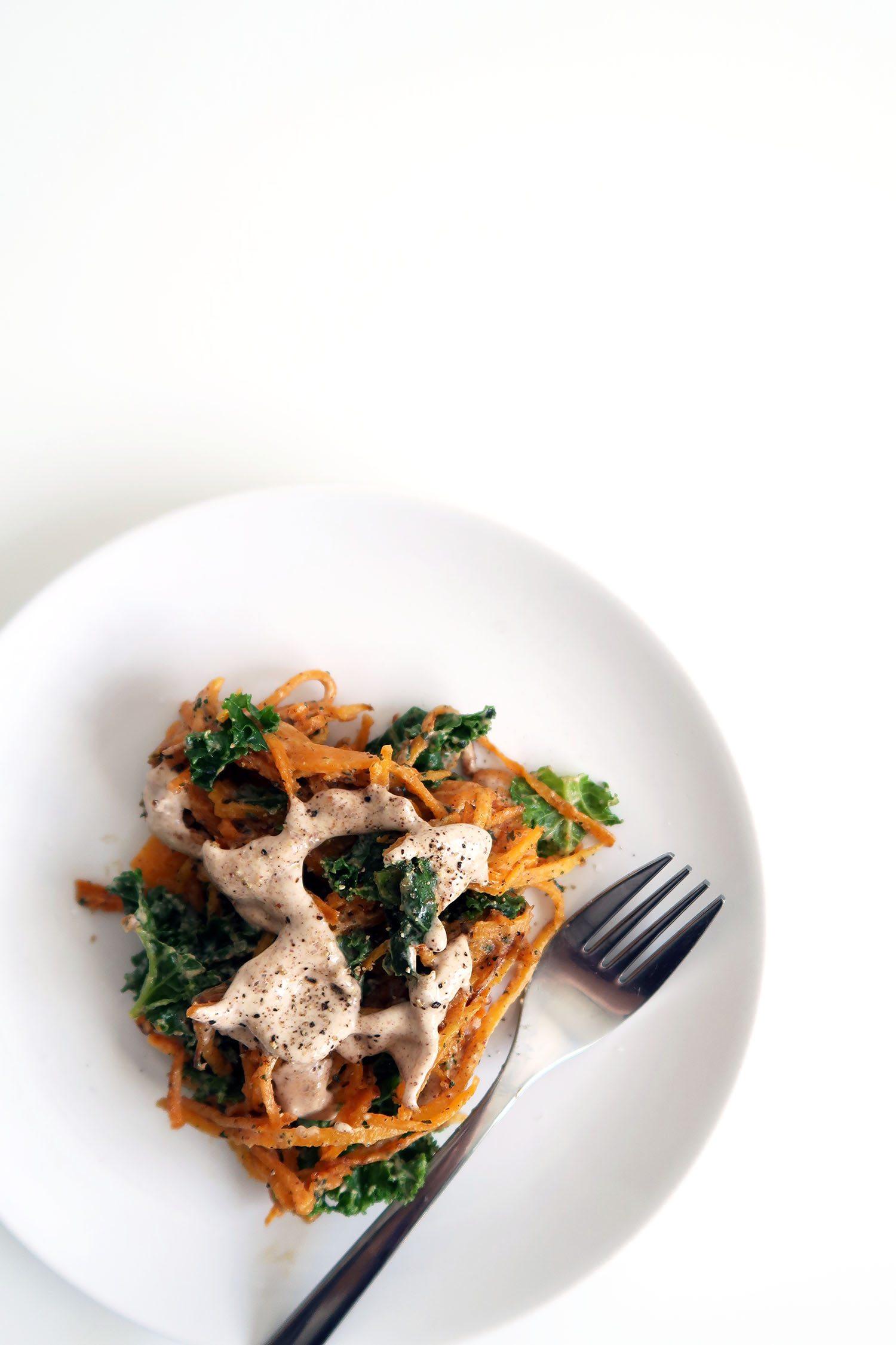 Sweet Potato Noodles With Peanut Satay Sauce