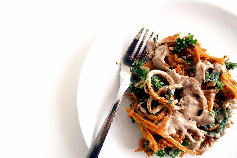 Vegan Lunch Sweet Potato Noodles