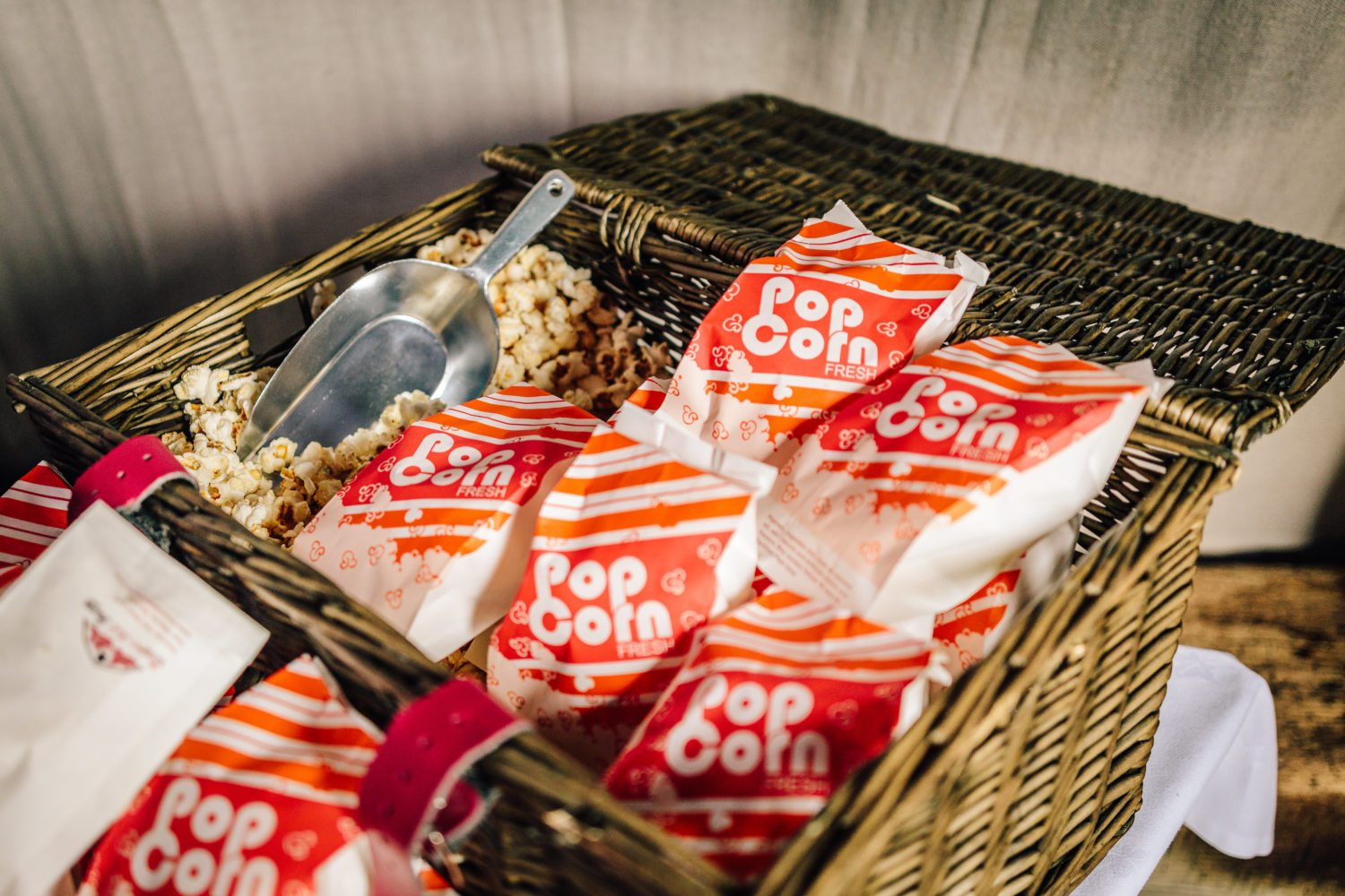Popcorn at wedding