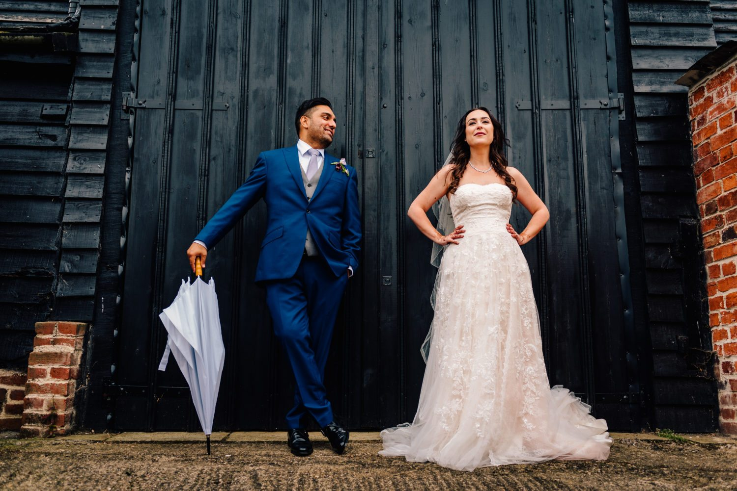 Bride and Groom Barn Wedding