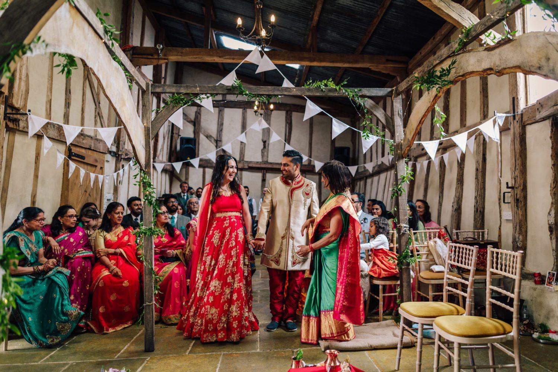 Bride and Groom at Mandap