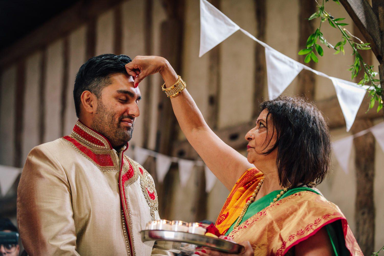 Blessing before hindu wedding