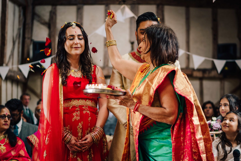 Petals at hindu wedding