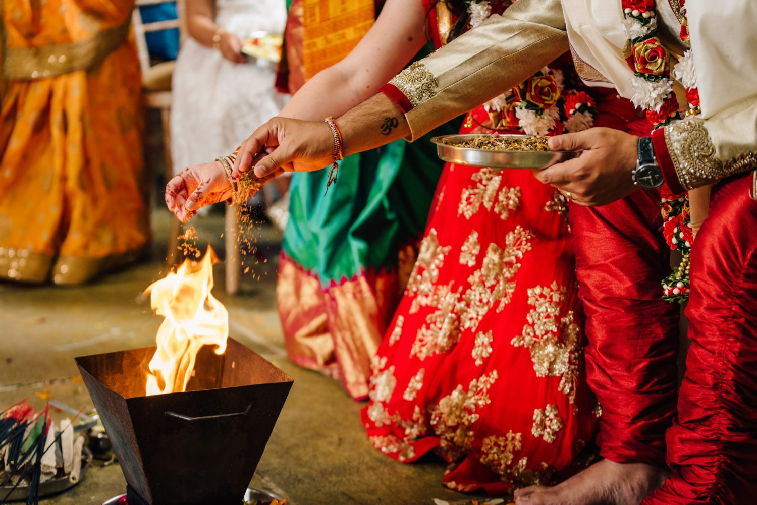 Agni holy fire offerings