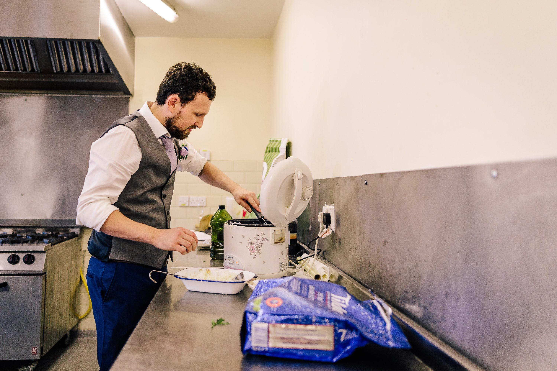 Catering Kitchen Alpheton Hall Barns Wedding