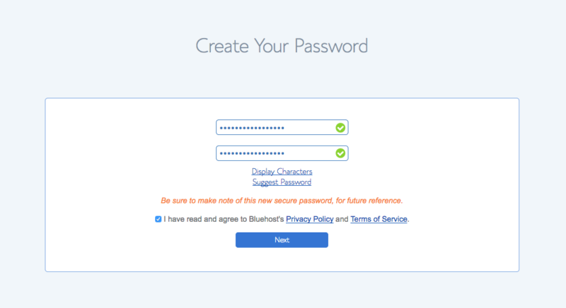 7 Password Step 2 How to Start a Lifestyle Blog