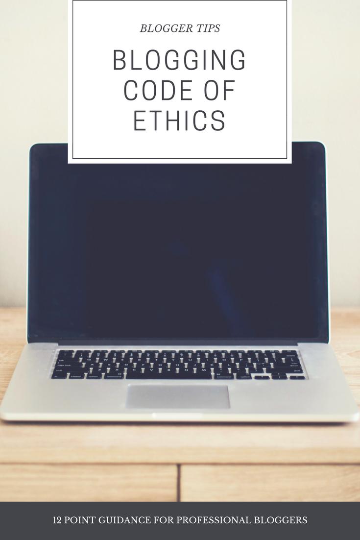 BLOGGING CODE OF ETHICS