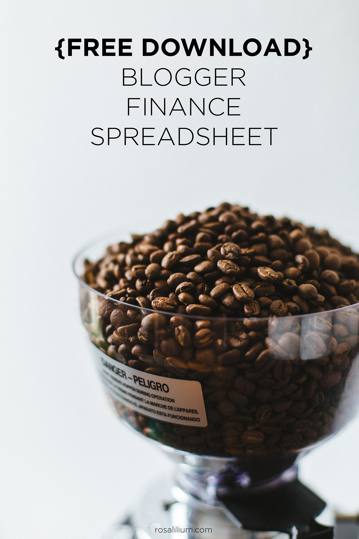Blogger Finance Spreadsheet