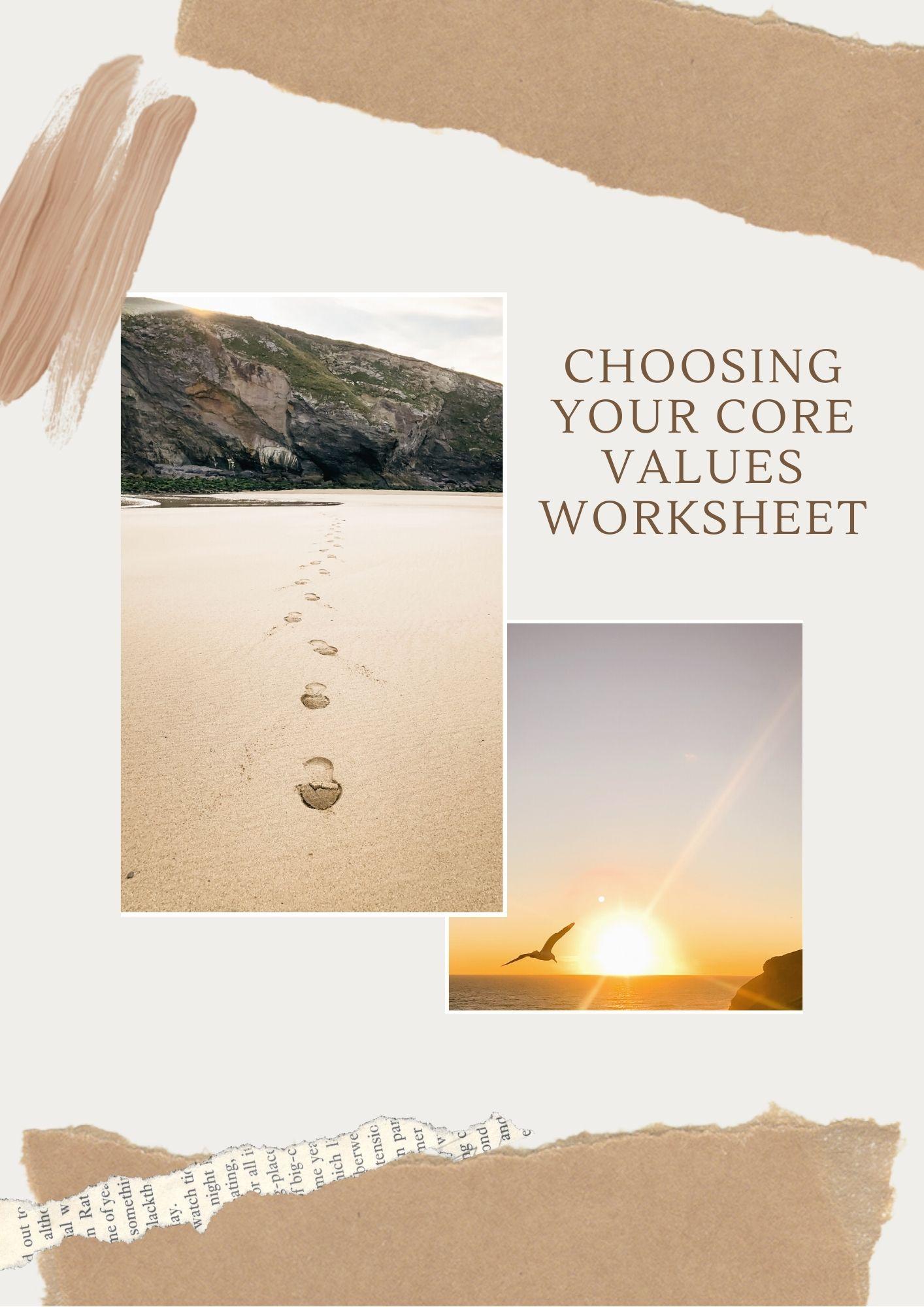 Choosing Your Core Values Worksheet