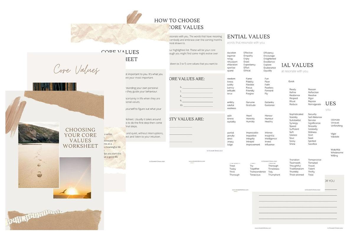 Core Values Workbook Sneak Peek
