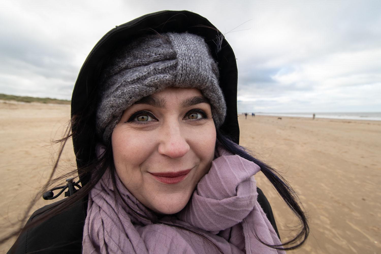 Elizabeth on the beach