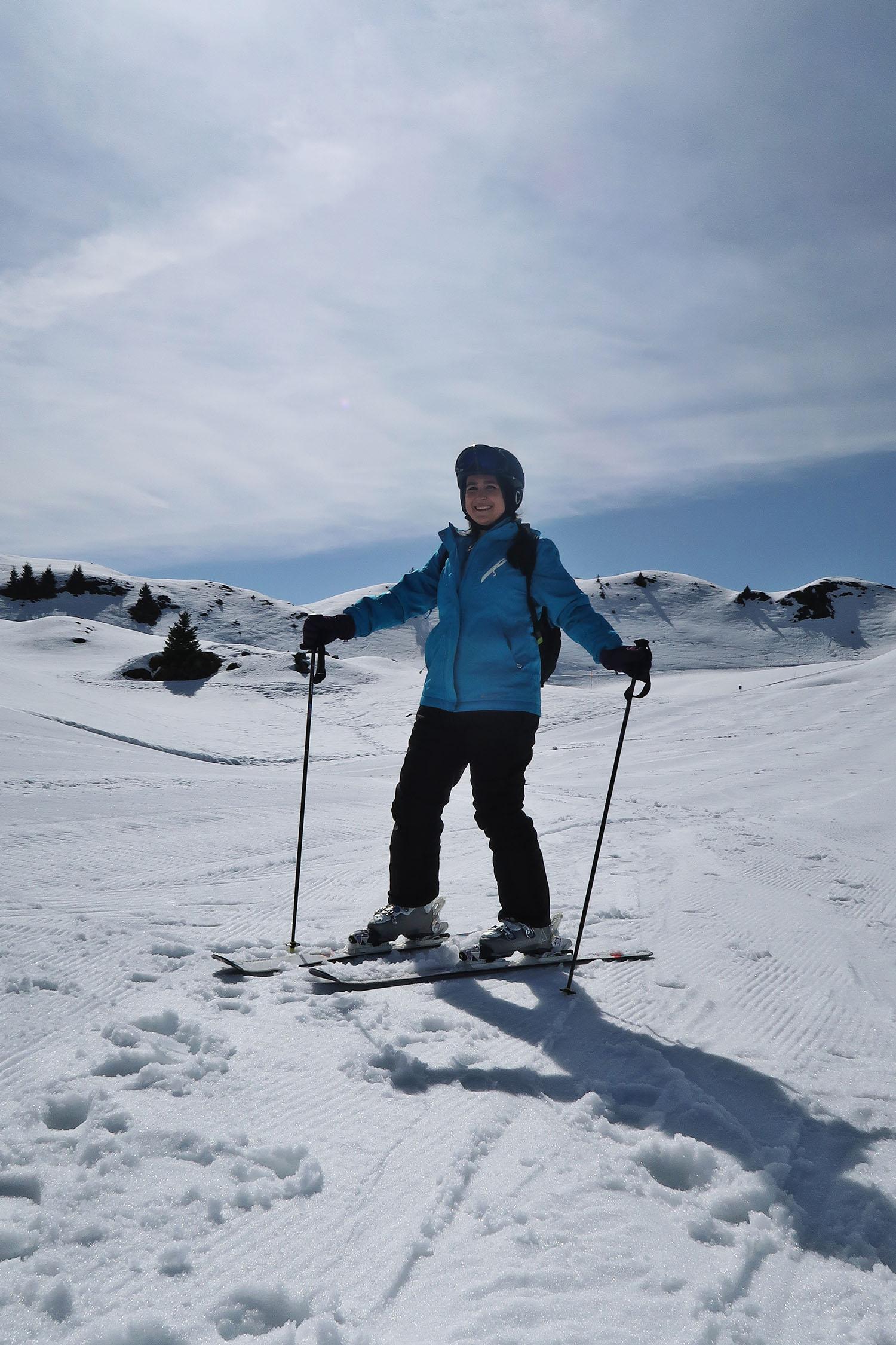 Elizabeth Skiing