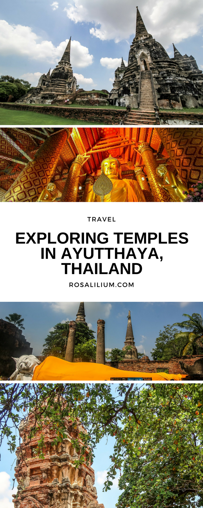 Exploring temples in Ayutthaya Thailand