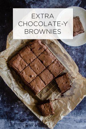 Extra Chocolate Brownies Recipe