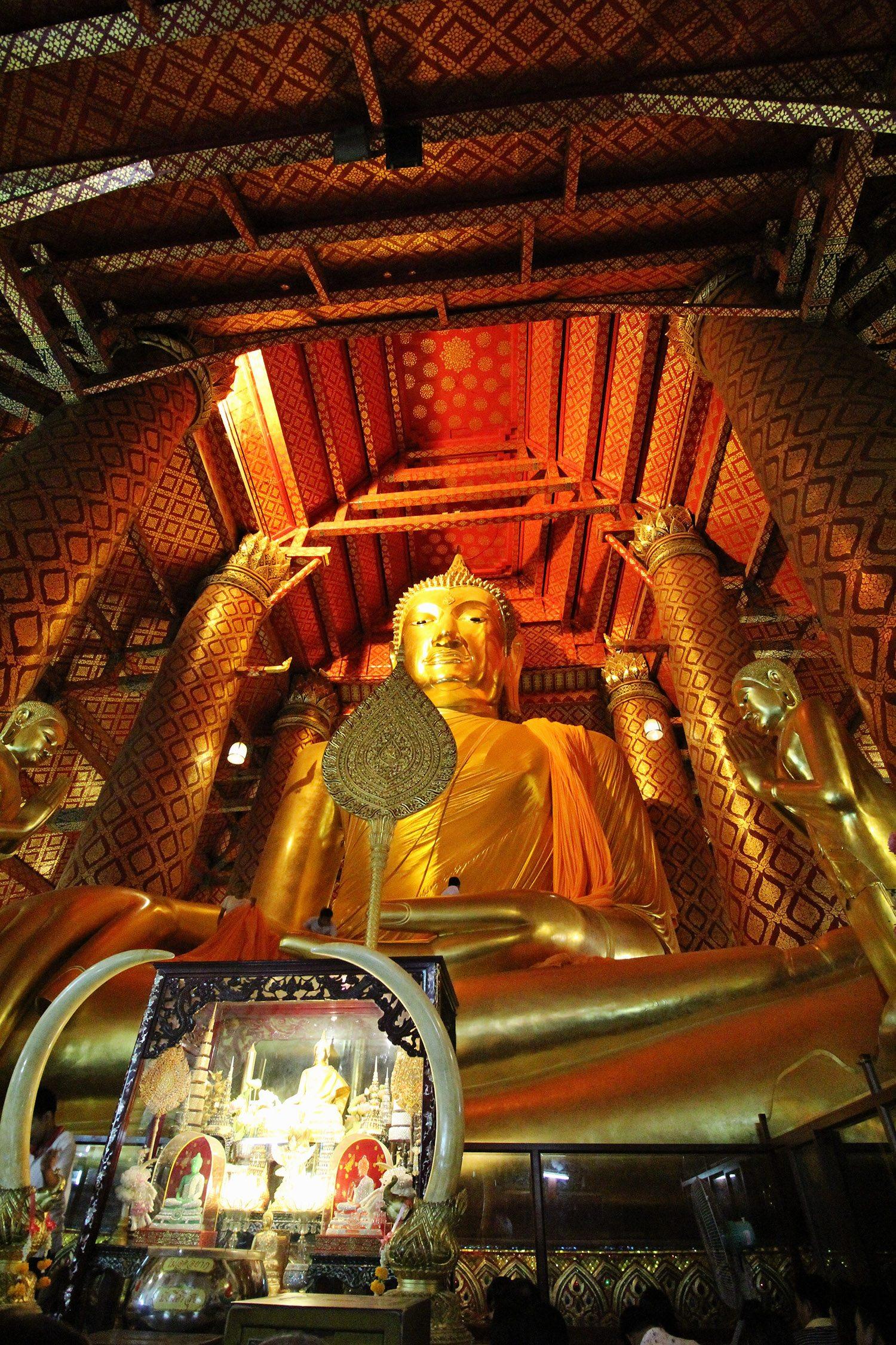 Giant Sitting Buddha Ayutthaya