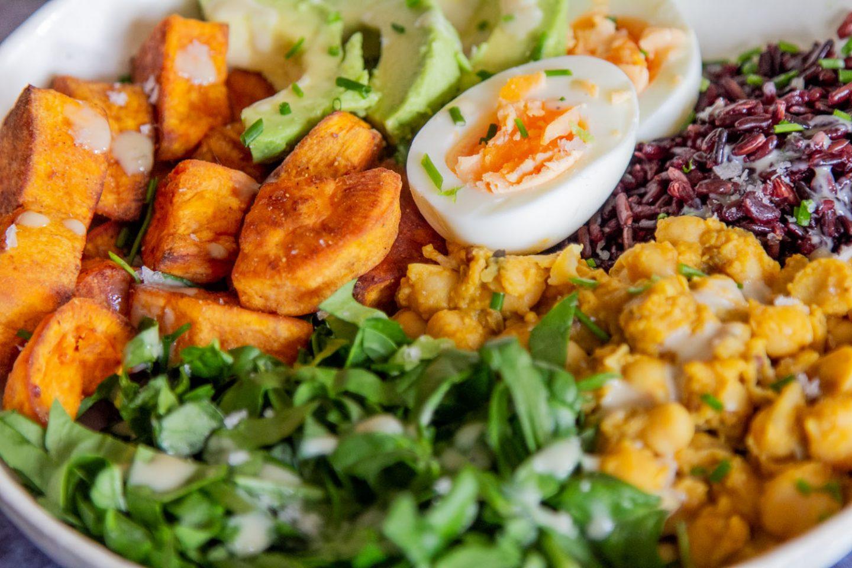 Close up of healing bowl of food